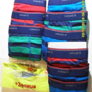 9 PAIR OF HANES TAGLESS BOXER BRIEFS SIZE XL18/20